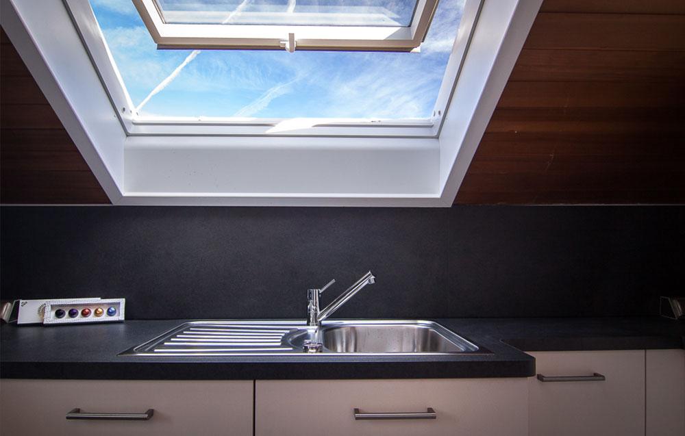 Spülbecken in Küche